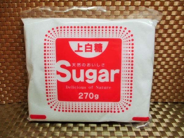 チュートウ印 上白糖 270g/108円(税込) ダイソーで購入。