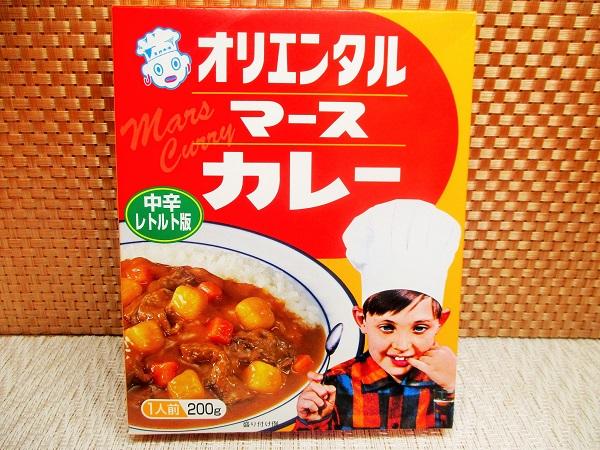 オリエンタル マースカレー 200g/196kcal/199円(税込) OKで購入。