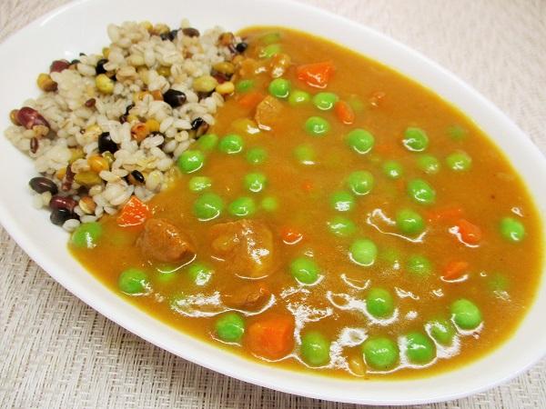オリエンタル マースカレー&蒸しもち麦と10種の麦ミックス(豆と穀物)