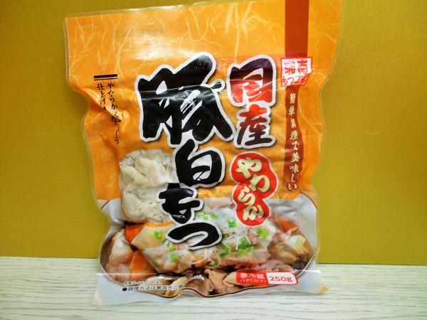 湘南もつ工房 国産やわらか 豚白もつ 250g/323円(税込) OKで購入。