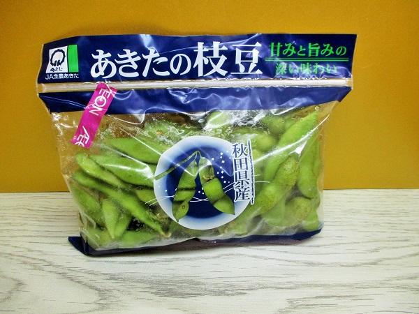 あきたの枝豆 甘みと旨みの深い味わい JA全農あきた イオンで購入。
