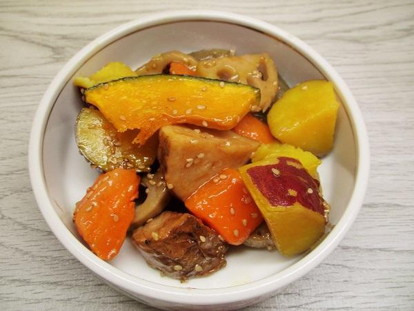 フジッコ ごろっと根菜の彩り甘辛和え OKで購入。
