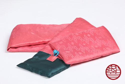マフラー Silk pink+green商品