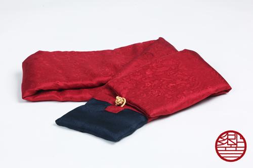 マフラー Silk red+navy商品