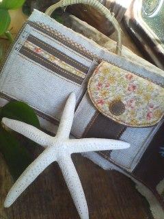 hemp wallet  natural×brown inside
