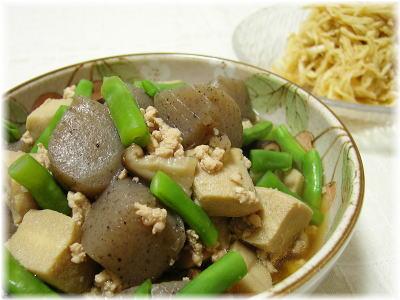 高野豆腐とこんにゃくの炒め煮