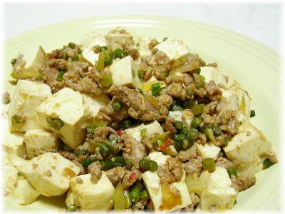 豆腐肉味噌炒め