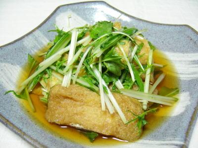 水菜と油揚げの浅煮
