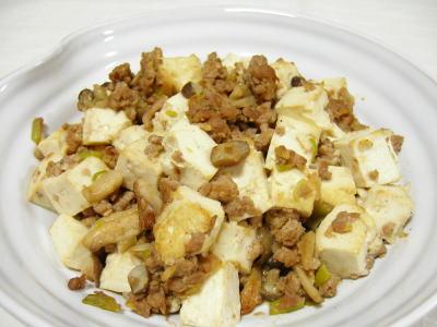 豆腐の肉味噌炒め
