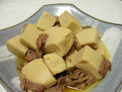 牛肉と高野豆腐の煮物