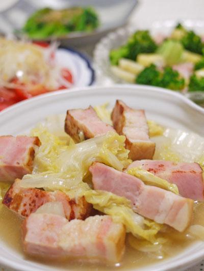 白菜ベーコンコンソメ煮