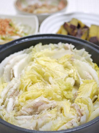 白菜豚バラ蒸し煮
