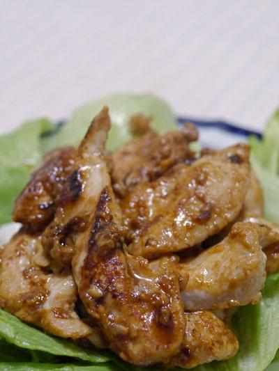 鶏胸の塩麹焼き