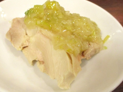 横浜中華街・品珍閣 蒸し鶏