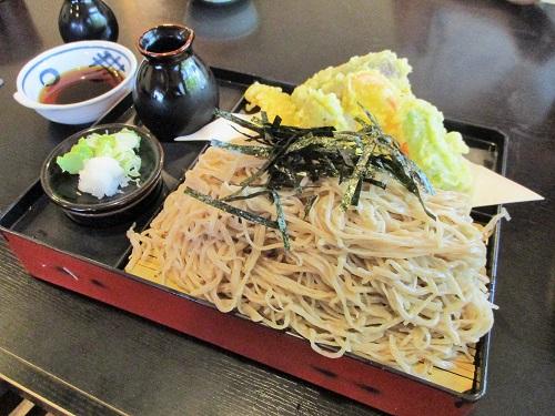 信州蕎麦の草笛 上田店 野菜てんぷら蕎麦 中盛
