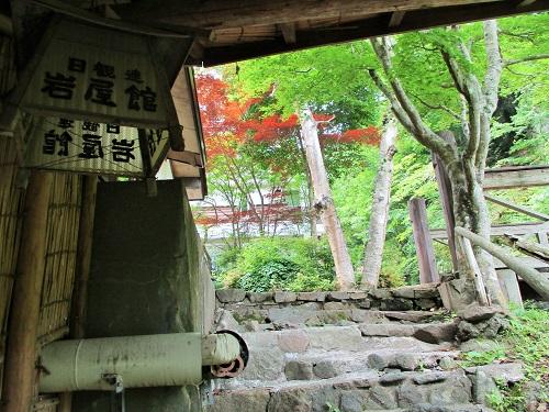 信州上田・角間温泉 岩屋館の周辺を散策