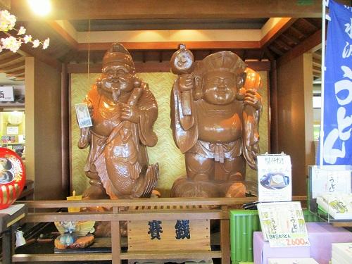 上州物産館 恵比寿さんと大黒さんがお出迎え。