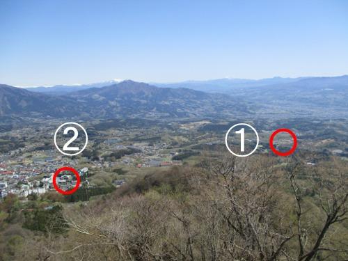 伊香保ロープウェイ 見晴駅 物聞山(ものききやま)からの眺望