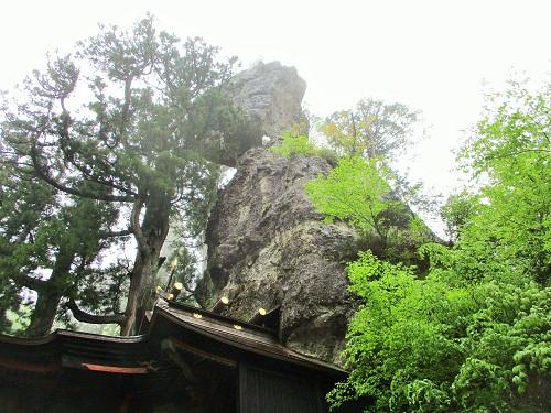 榛名神社 2018年5月 御姿岩(みすがたいわ)