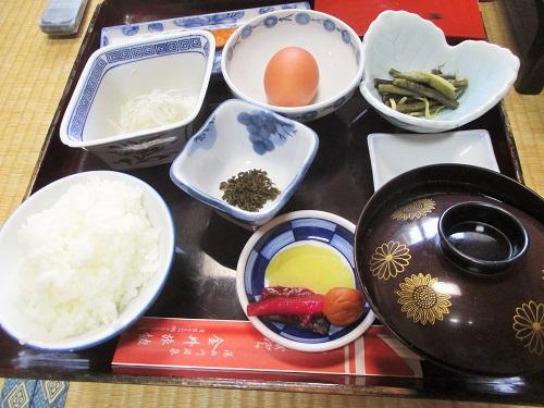 湯西川温泉 金井旅館 朝食 2019年5月