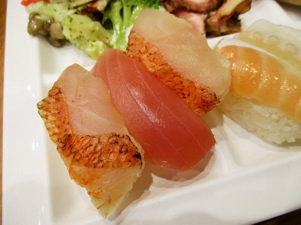 金目鯛のお寿司もありましたよ!