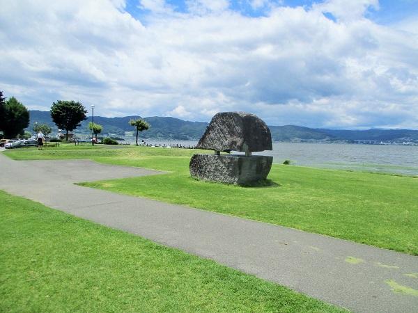 諏訪湖 ふれあいなぎさ 日本の渚百選【2020年7月】