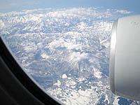 機内から見た南アルプス