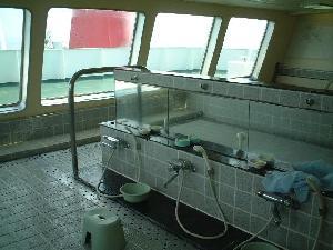 フェリーの展望大浴場は格別