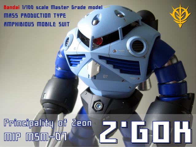 1/100 MG MSM,07 量産型ズゴック 塗装済完成品