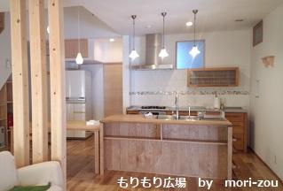 おしゃれなセパレート型キッチン もりもり広場.jpg