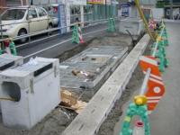 歩道に出来るハンドホールと排水ブロック