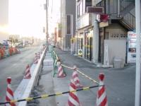 店舗前歩道工事
