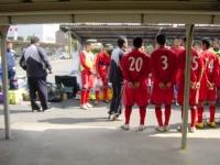 試合後のミーティング