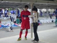 インタビューを受ける小原選手