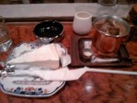 レアチーズケーキ&アイスコーヒー@砂時計