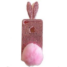 iPhone4/4S スワロフスキーケース *3Dピンクラビット*