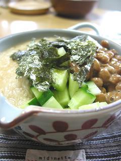 山芋と納豆のトロトロ丼