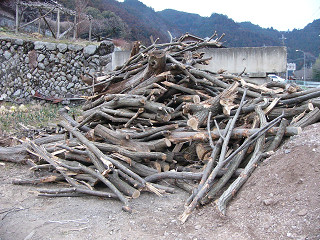 栗の木の薪