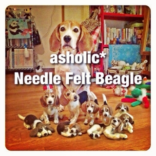 order made needle felted beagle