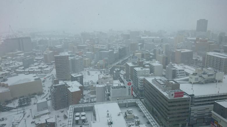 新潟市 冬 メディアシップ