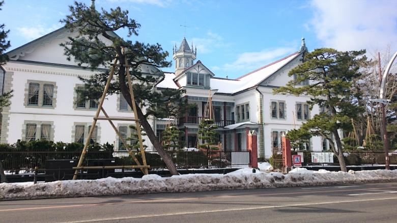 新潟県政記念館 雪