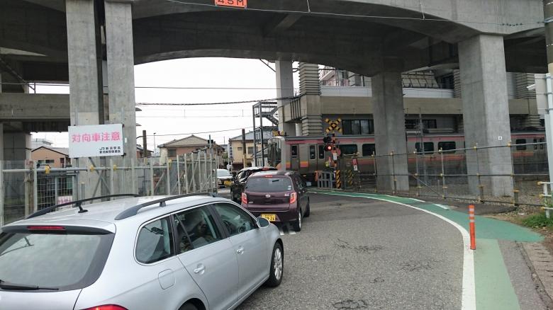 新潟駅 高架 天神尾踏切