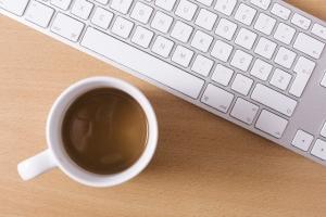 PC キーボード コーヒー