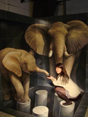 高雄Trick Art Elephant