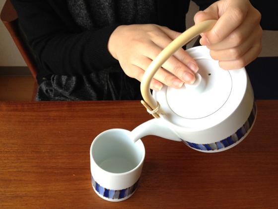 白山陶器 キルト 角土瓶