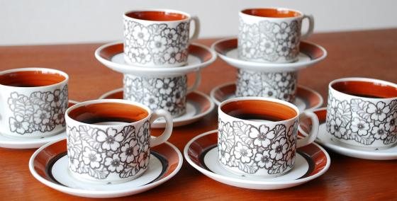 Gefle/Upsala Ekbey(ゲフレ/ウプサラエクビー) Agneta/アグネッタ コーヒーカップ&ソーサー