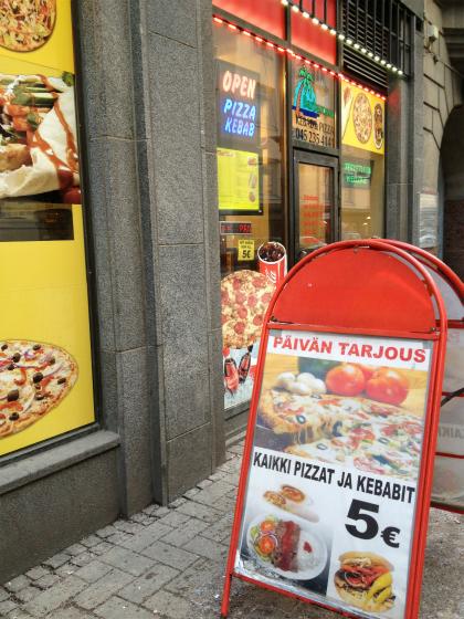 ケバブは5ユーロ
