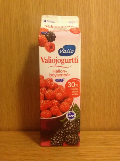 ヘルシンキのスーパーで買ったヨーグルト