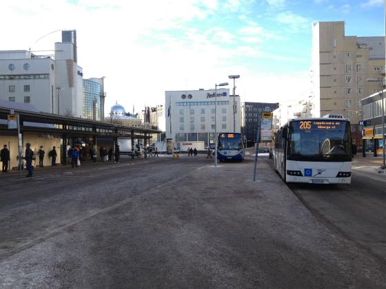kamppiのバスターミナル(地上)