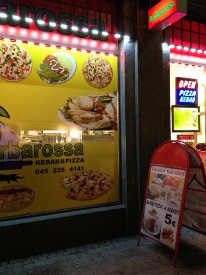 また来ました!ヘルシンキのピザ屋